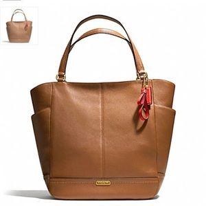 Coach Park Leather North/South Tote F23662 Bag